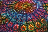 Future Handmade Mandala design multi color twin tapestry wall tapestry hippie tapestry wall hanging Indian psychedelic tapestry mandala beach throw boho tapestries bohemian bedspread Size 81x55 Inches