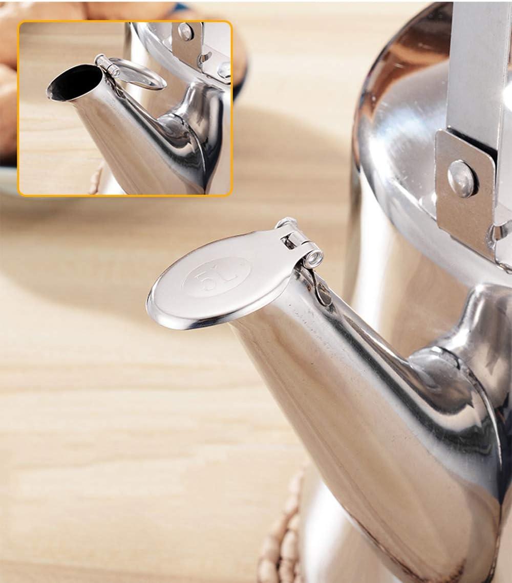 Bollitore addensato in acciaio inox bollitore a gas fischio fondo piatto grande capacità bollitore a gas 5L 3 L