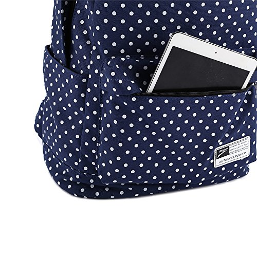 403f4345dad3 Leaper Casual Style Polka Dots Laptop Back Pack School Bag (Dark ...