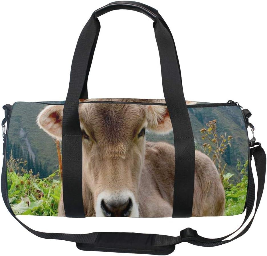 Duffel Bag Animals Cows Cute Women Garment Gym Tote Bag Best Sports Bag for Boys