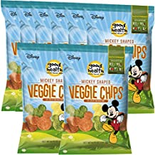 Disney Mickey Mouse Shaped Veggie Chips Children's Healthy Snacks 6.75 Oz (8)