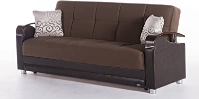 Luna Naomi Brown Sofa Sleeper