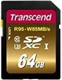 Transcend SDXC UHS-I U3 Extreme 64GB Speicherkarte (95MB/s Lesen, 85MB/s Schreiben)