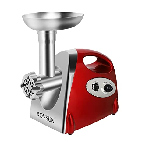 Amazon.com: rovsun Electric Meat Grinder, 800 W Heavy Duty ...