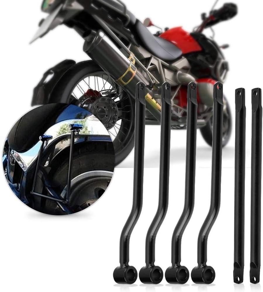 soportes de barras de soporte para alforjas de motocicleta Soporte de montaje lateral de soporte de alforjas de acero inoxidable negro Soportes de alforjas Universal