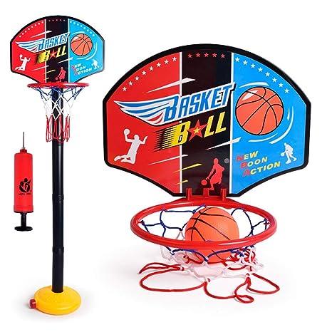 0Miaxudh - Juego de baloncesto para niños, ajustable, minicanasta ...