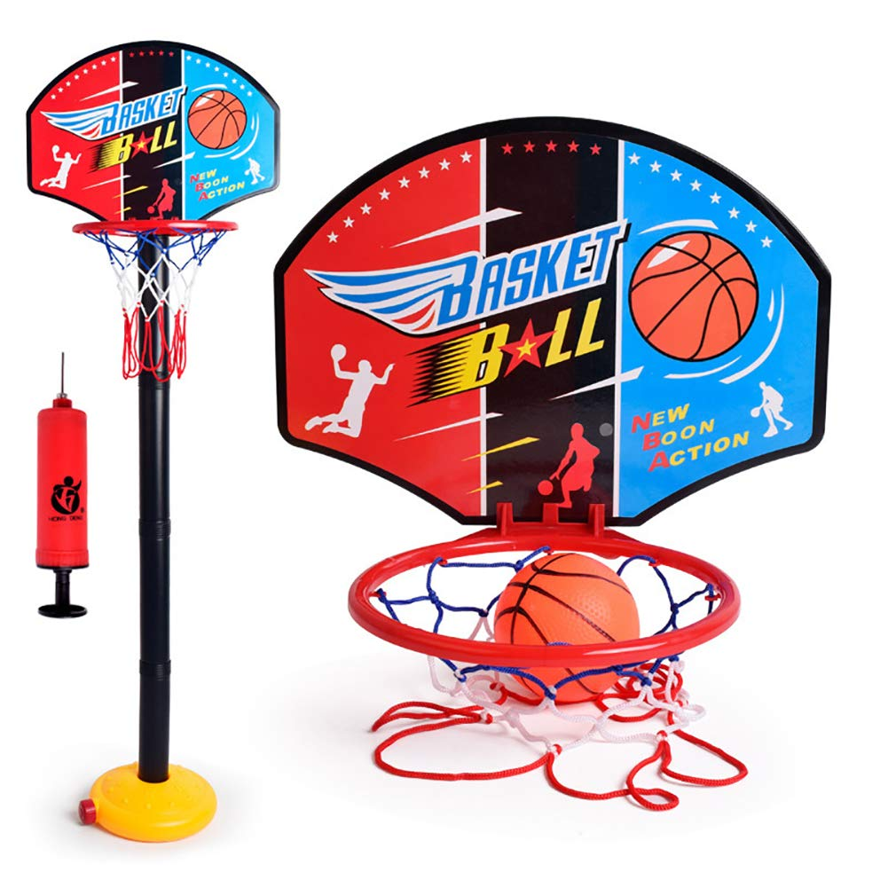 Aland-Adjustable Kids Mini Basketball Hoop Stand Toys Outdoor Indoor Sports Games by Aland (Image #1)