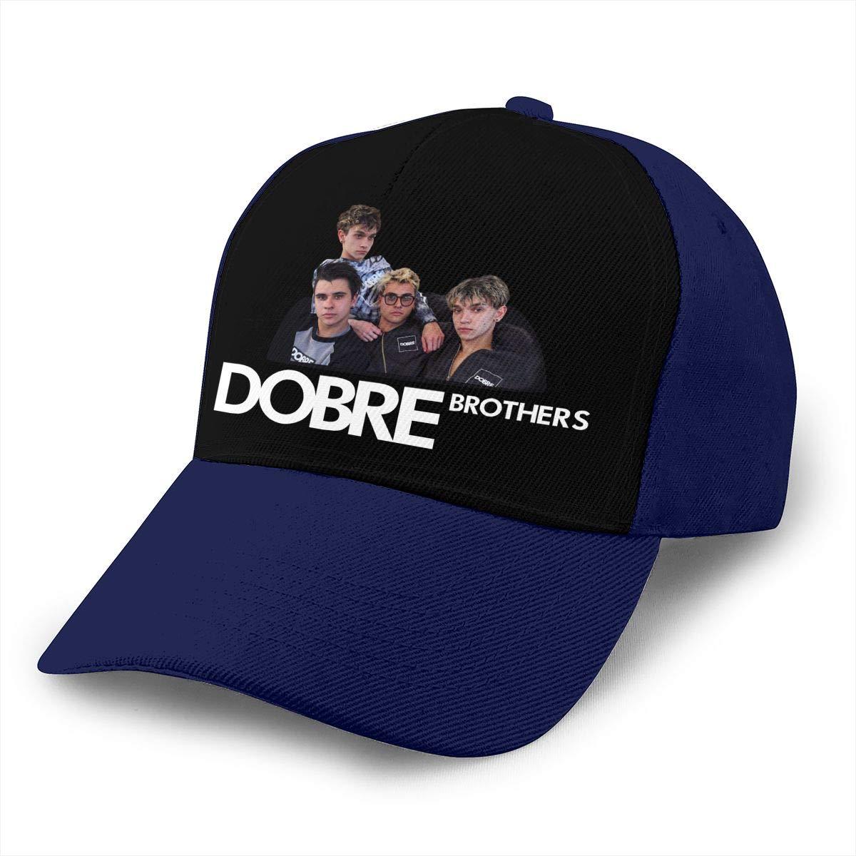 Adjustable Women Men Dobre Brothers Print Baseball Cap Flat Brim Cap Hats Hip Hop Snapback Sun Hat Boys Girls Navy by Apolonia