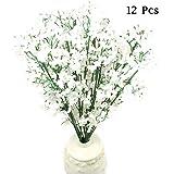 OurWarm12本セットかすみ草の花束 花言葉「清い心」母の日ギフト 結婚式 誕生日 インテリアフラワー 造花