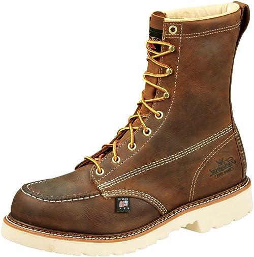 "Thorogood Men's American Heritage 8"" Moc Toe, MAXWear 90 Safety Toe Boot |  Industrial & Construction Boots - Amazon.com"