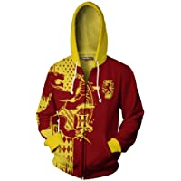 Wizardry Ravenclaw Gryffindor Hufflepuff Slytherin Harry Potter 3D Printed zip cardigan jacket Hoodie Streetwear Unisex…