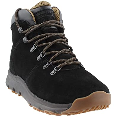 Timberland Mens World Hiker Mid Black Suede Boot 10