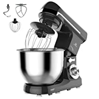 MURENKING MK37C Food Mixer 1000W 5L Bowl 6-Speed Tilt-Head Kitchen Stand Machine, 4 Accessories