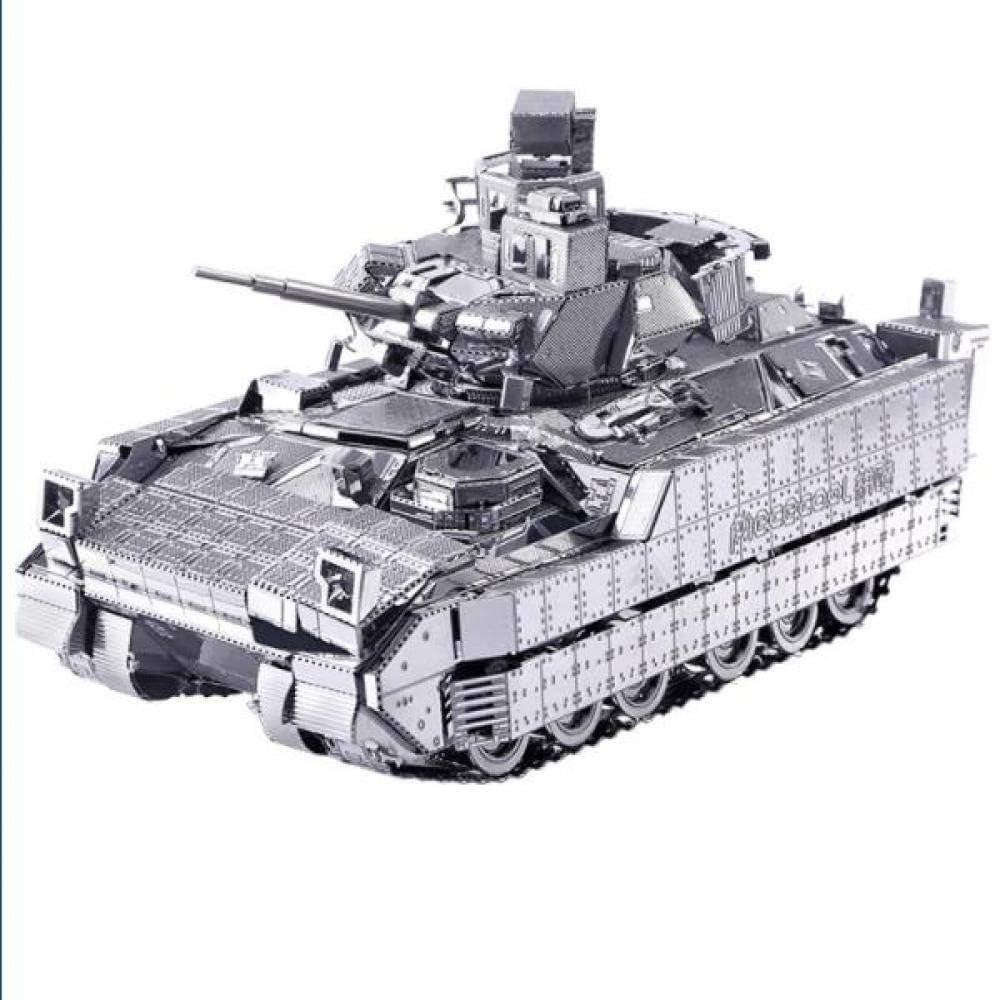 MQKZ 3D Rompecabezas Tridimensional de Metal montado Bradley infantería vehículo de Combate DIY Militar montado Regalos Hechos a Mano / Plata + Herramienta B / un tamaño: Amazon.es: Juguetes y juegos