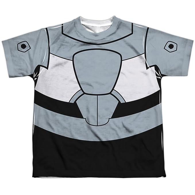 Teen Titans Go Cyborg uniforme (delantera y trasera) de impresión por sublimación de los grandes camiseta: Amazon.es: Ropa y accesorios