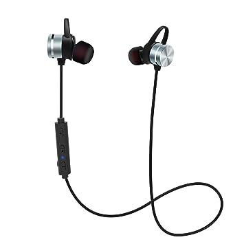 Auriculares Bluetooth, KOOHO E1 Bluetooth Inalámbrico EStereo Cascos, Magnéticos in Ear, Reducción de