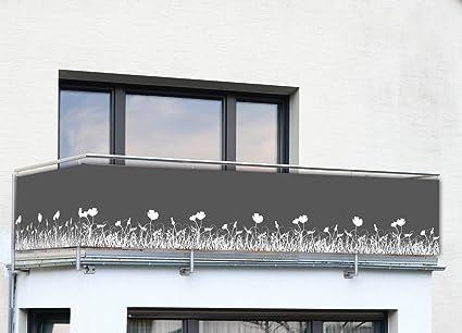 Jardin Terrain de Sport Pare Vue Balcon avec Oeillets et Cordons rosemaryrose Brise Vue Balcon Protection UV Brise Vue pour Balcon
