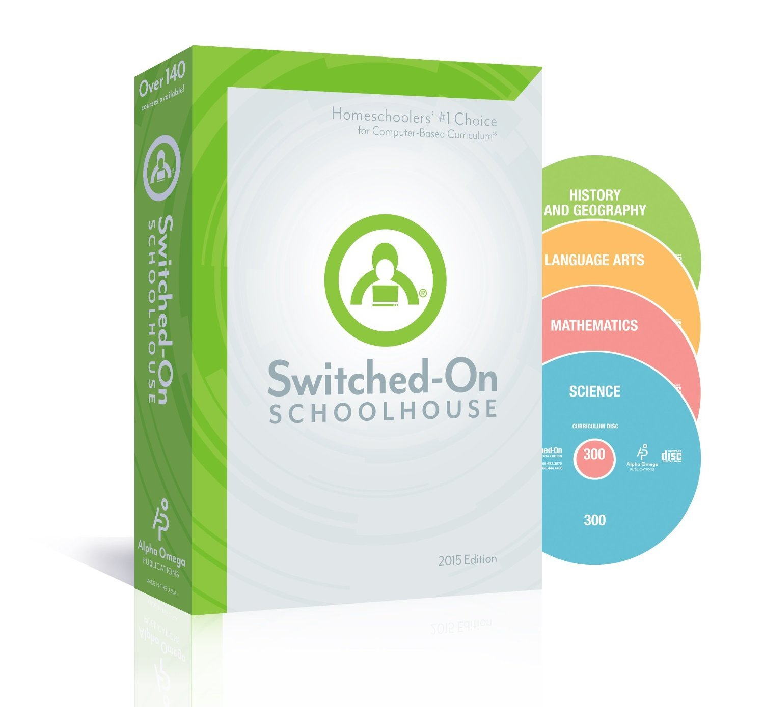 Switched on Schoolhouse, Grade 10, AOP 4-Subject Set - Math, Language, Science & History / Geography (Alpha Omega HomeSchooling), SOS 10TH Grade CD-ROM Curriculum, Core Subject Set
