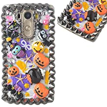 Halloween Theme Phone Case for LG Stylus 2 Plus,Yaheeda 3D Handmade Rivets Pumpkin Demon Cartoon Design Clear Cellphone Cover