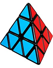 COOJA Pyramid Puzzle Pyraminx Cube, 3x3 Speed Cube Triangle Toy Smooth Magic Cube 3D Puzzles Brainteasers for Adults Kids Children Presents for Boys Girls