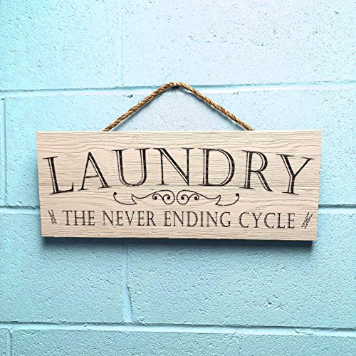 Artblox Rustic Laundry Room Wall Decor Sign Wash Dry Fold Repeat Quotes Real Thick Barn Wood Vintage Farmhouse Decorations Wood Art Prints Plaque 7