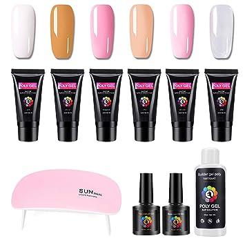 Shellac Set, gel nägel starter set UVLED Lampe 6 Farben