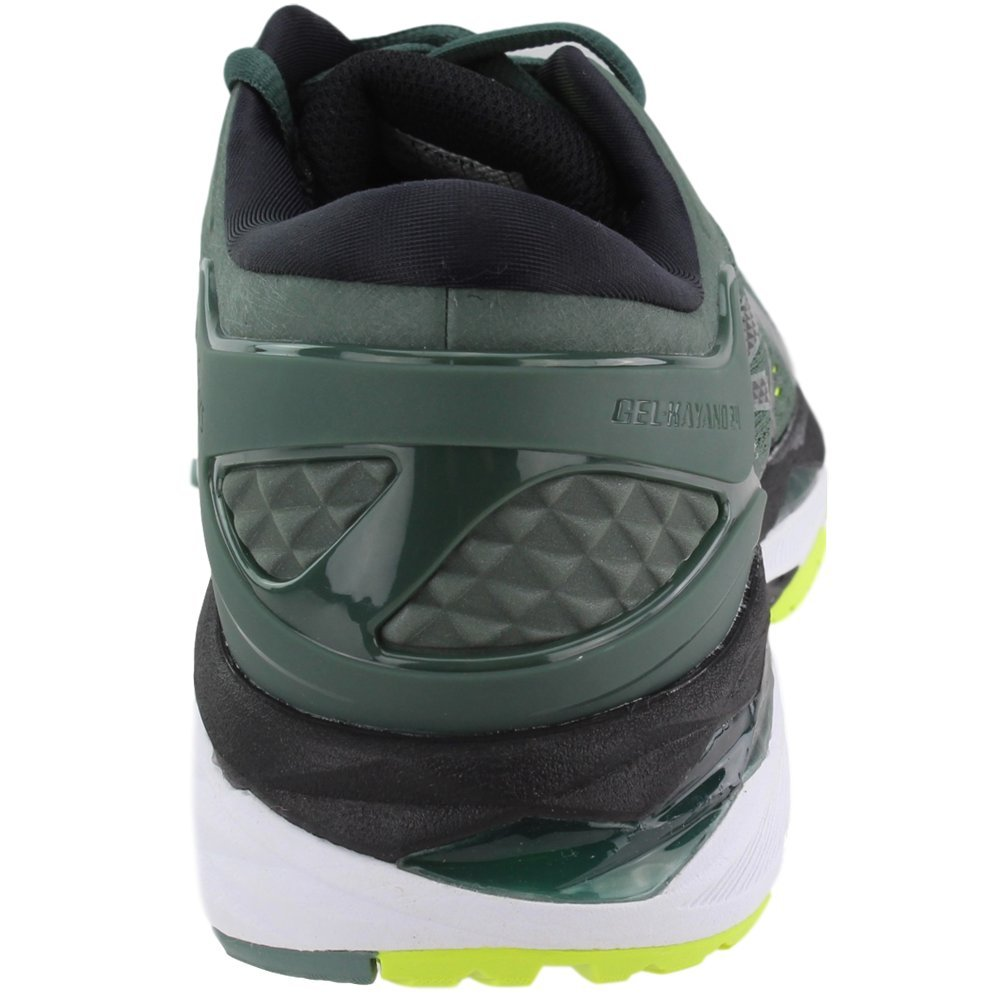 ASICS Men's Gel-Kayano¿ 24 Dark Forest/Black/Safety Yellow 6 D US by ASICS (Image #3)