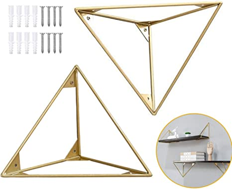 4pcs Living Room Triangle Support Wall Mounted Metal Home Decor Shelf Bracket