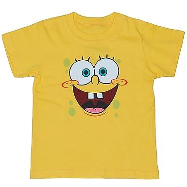 amazon com animation shops spongebob face toddler t shirt clothing