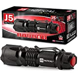 J5 Tactical V1-PRO LED Tactical Flashlight – Original Stadium Bright High Lumens 3 Mode Zoomable Mini Handheld Flashlights - Best Outdoor, Camping, Emergency, Small EDC, AA Flash Light
