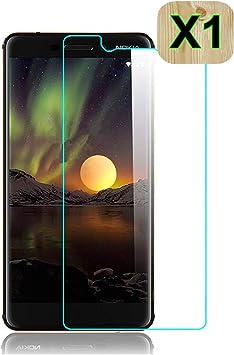Haikingmoon Cristal Templado Nokia 6 2018,Fácil de Instalar Libre ...