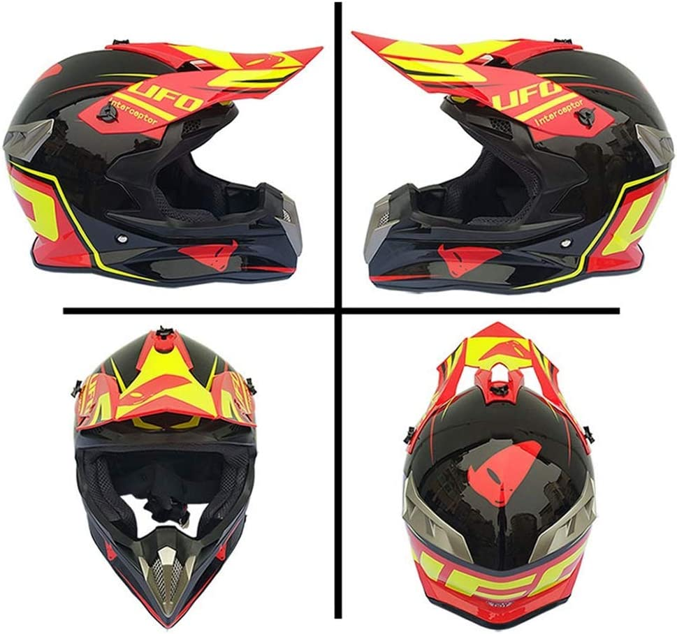 SHOPTOP Adult Motorrad Crosshelm und Schutzbrillen 4 St/ück Full Face MTB Off Road Helm Downhill Quad Moto Bike MX ATV Sturzhelm Set
