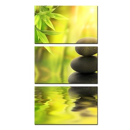Amazon.com: Kreative Arts - Zen Stone Canvas Wall Art Spa Still Life ...