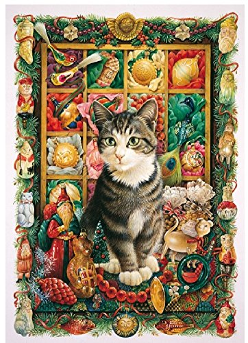 Wentworth Harry and the Christmas Decorations 500 Piece Wooden Cat Jigsaw Puzzle