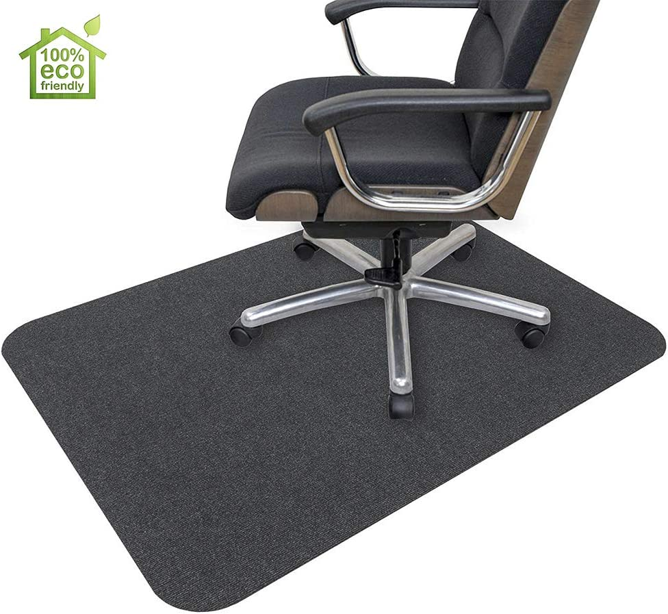 "Office Chair Mat, Hard-Floor Chair Mat for Home, 0.16"" Thick Multi-Purpose Low Pile Desk Chair Mat for Hardwood Floor (35x55 in. / Dark Gray)"