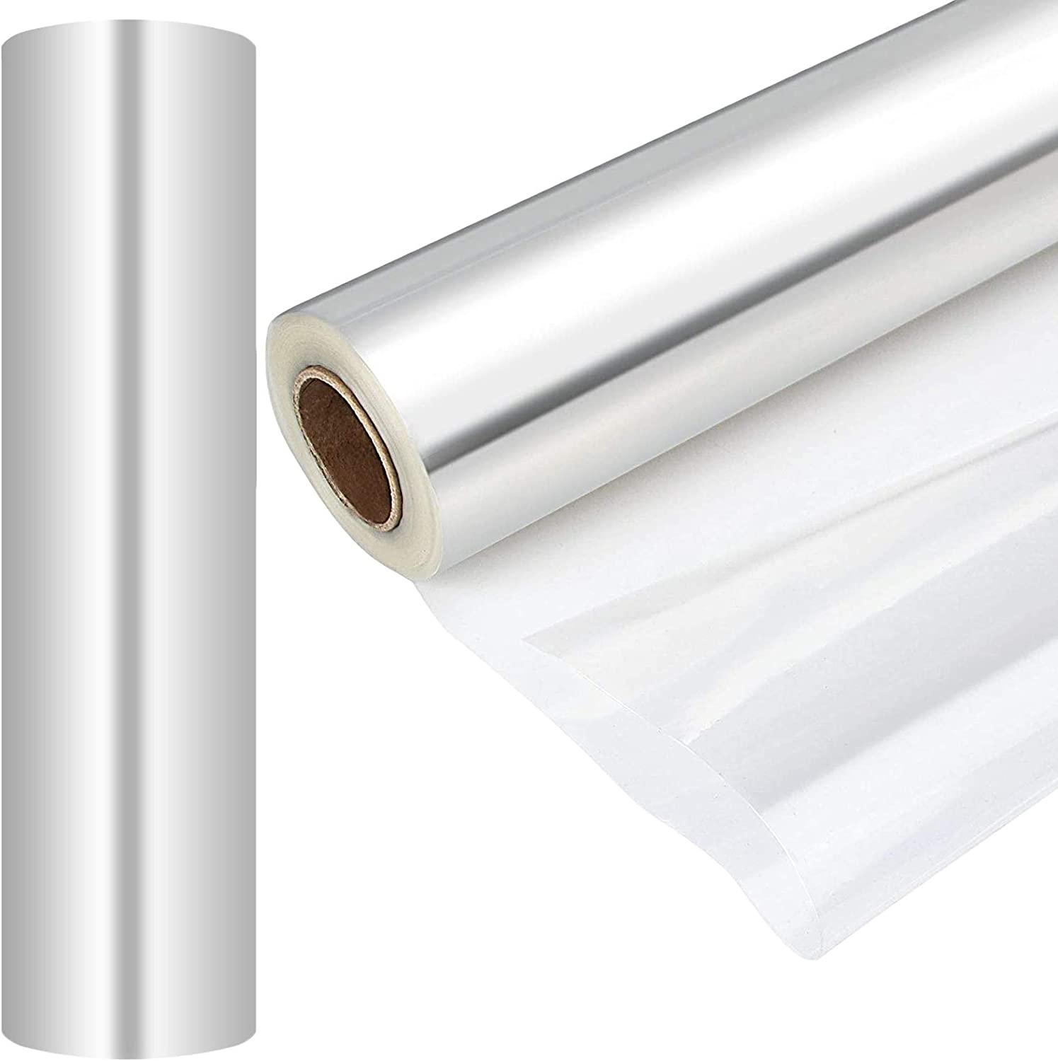 2 Pack Clear Cellophane Wrap Roll 100 FT x 31-1/2Inch Clear Wrap Cellophane Bags 30 Mic Thick Clear Wrapping Paper to Wrap Gift Baskets Food Safe Cello Rolls