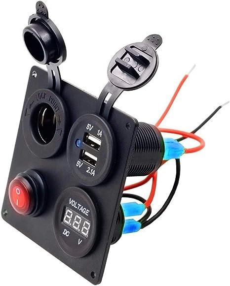 Barlingrock 2019 Tr Turn Raise Dual Usb Ladegerät Aluminium Schalter Panel Led Voltmeter 12v Küche Haushalt