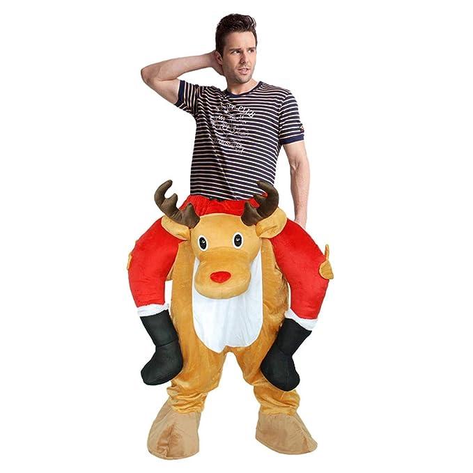 Amazon.com: Disfraz de elk de Papá Noel inflable para adulto ...