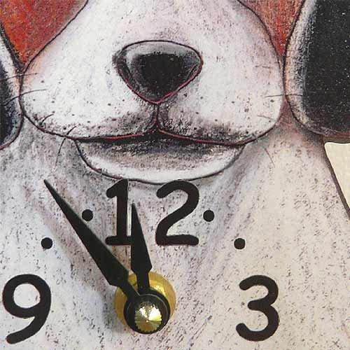 Swinging-Tail Pendulum Dog Wall Clock – Beagle