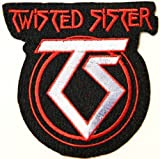 TWISTED SISTER Pun Rock Logo Punk Rock Heavy Metal Music Band Jacket shirt hat blanket backpack T shirt Patch Embroidered Appliques Symbol Badge Cloth Sign Costume Gift