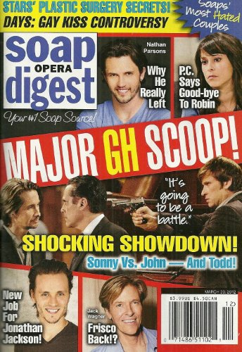 - GENERAL HOSPITAL Roger Howarth Nathan Parsons Finola Hughes Lisa Rinna Daytime's Most Despised Duos - March 20 2012 Soap Opera Digest Magazine