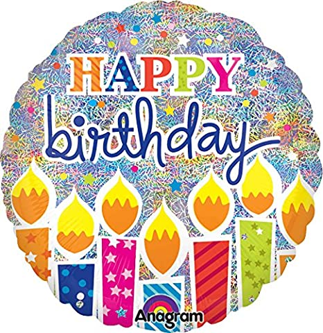 Anagram globo de internacional Shimmer - Velas de cumpleaños ...