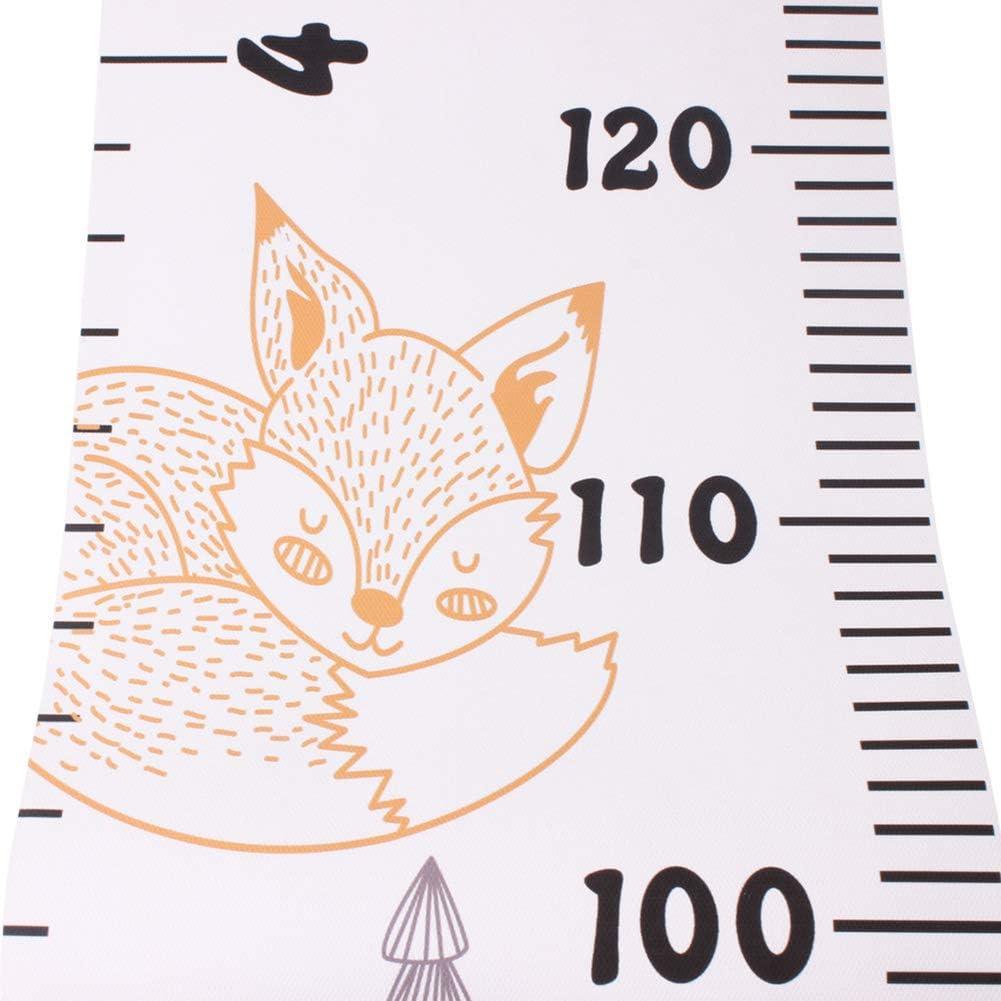stile nordico Righello da parete a forma di gufo motivo: scoiattolo impermeabile Fuchsiaan cervo elefante in tela per bambini