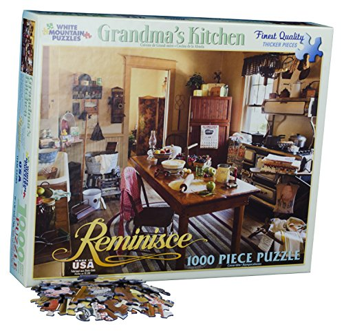 White Mountain Puzzles Grandma's Kitchen - 1000 Piece Jigsaw - Costume Potter Own Harry Make Your