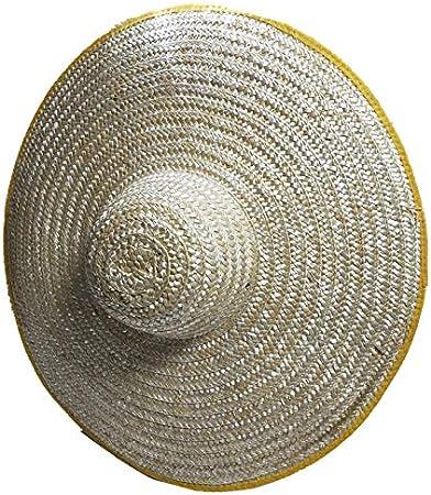Cappello Di Paglia Uomo Grande Cappello Di Paglia Contadino Grande Lungo La Visiera Agricola Paglia Grande Essiccazione Fuori Cappello Maschio Sito Figlio Pesca Femmina Grande Lato Borsa 60Cm
