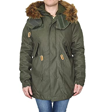 Alpha Industries Girl Vintage Parka (Oliv) (XL)  Amazon.de  Bekleidung f5a6d3fdda