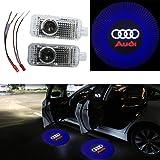 ZNYLSQ LEDドアカーテシランプ レーザーロゴライトドアウェルカムライト カーテシライト LED投影2個セット アウディ Audi