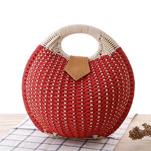 Women Totes Basket Amuele ST039 Handbag 02 Straw Bag Bag Woven Weaving Natural Rattan Shell HHqvzaCA