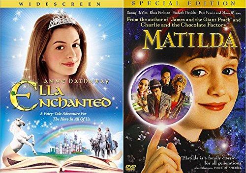 Ella Enchanted & Matilda DVD Set Classic Family Fantasy Movie Bundle Double Feature