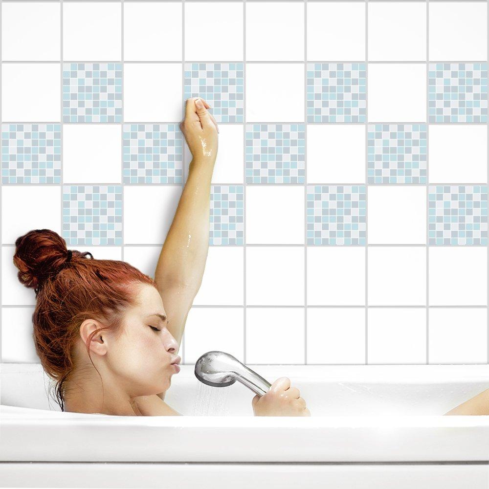 PrintYourHome Fliesenaufkleber für für für Küche und Bad   Mosaik Sinfonie glänzend   Fliesenfolie für 20x25cm Fliesen   42 Stück   Klebefliesen günstig in 1A Qualität B071LHX83S Fliesenaufkleber 9728e1